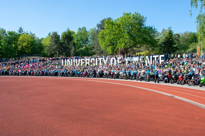 Finish van de Batavierenrace, U-track University of Twente
