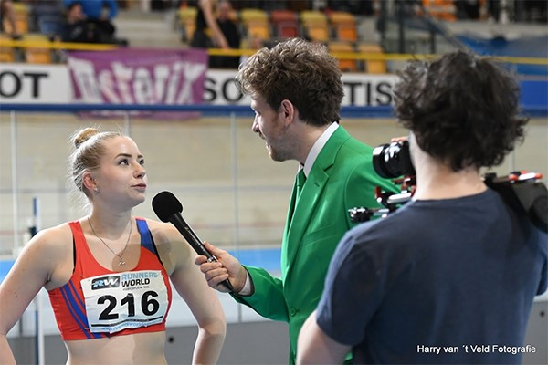 Interview SUSA met sprintende student.