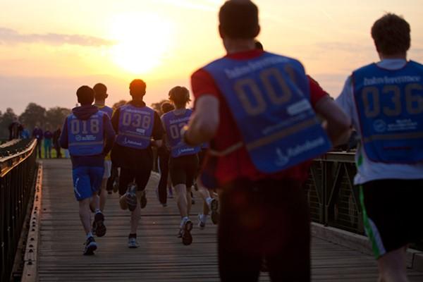 renners van de Batavierenrace in d ezon