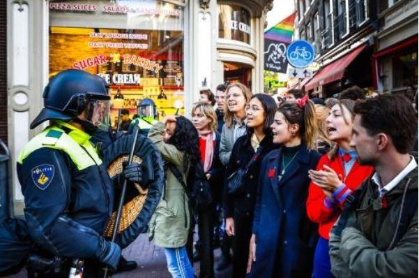 politie studenten schade bezetting